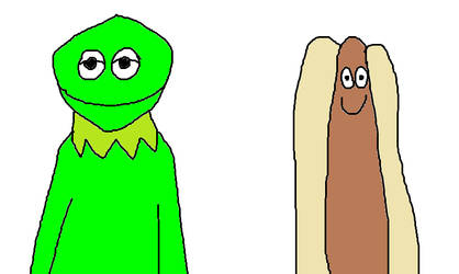 Kermit the Frog and the Hot Dog by MikeJEddyNSGamer89