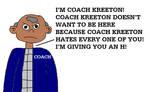 Coach Kreeton from All That by MikeJEddyNSGamer89