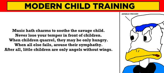 Donald Duck Despises Modern Child Training by MikeJEddyNSGamer89