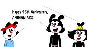 Happy 25th Anniversary to Animaniacs! by MikeJEddyNSGamer89