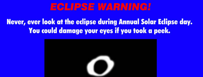 Eclipse Warning from The Weather Channel by MikeJEddyNSGamer89