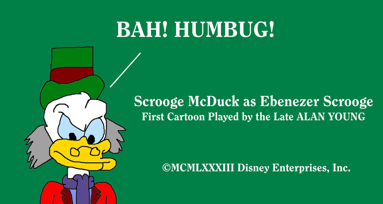 Scrooge As Ebenezer From Mickeys Christmas Carol By