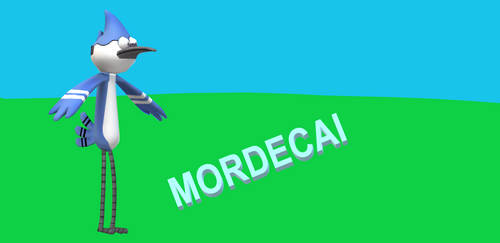 Mordecai from JG Quintel's Regular Show in 3D by MikeJEddyNSGamer89