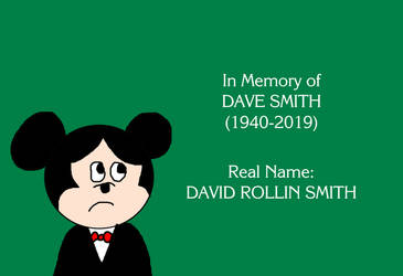 Mickey's Sad that Dave Smith, Archivist Passed Awa by MikeJEddyNSGamer89