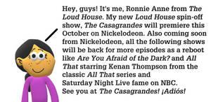 Ronnie Anne will be at the Casagrandes in October by MikeJEddyNSGamer89