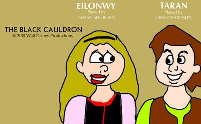 Eilonwy and Taran from The Black Cauldron by MikeJEddyNSGamer89