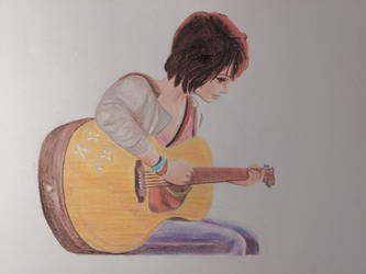 Max Caulfield with Guitar by TakuaNui