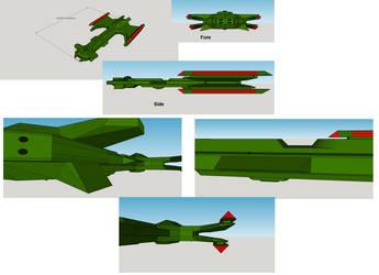 Klingon Dreadnought WIP by TNC-N3Cl