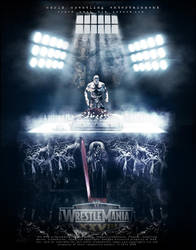 Wwe wrestlemania 28 Poster ( undertaker vs hhh ) by nlove4ever