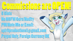 Commissions OPEN! (UPDATED 2/5 OPEN) by Spirit--Productions