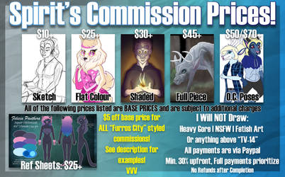 Spirit's Commissions- November Sale! by Spirit--Productions