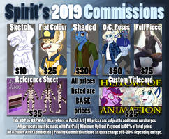 Spirit's Commissions 2019 [OPEN- 5 SLOTS] by Spirit--Productions