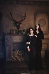 The Addams Family. Girls by NellieSchwarz
