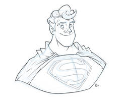 Superman Sketch by Phil-Crash-Murphy