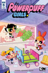 Powerpuff Girls #5 Cover by Phil-Crash-Murphy