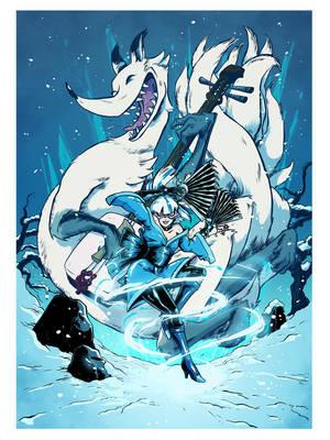 Commission - Fox Dancer by claudetc