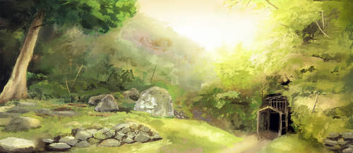 Japan Mine Painting by SoraNgin