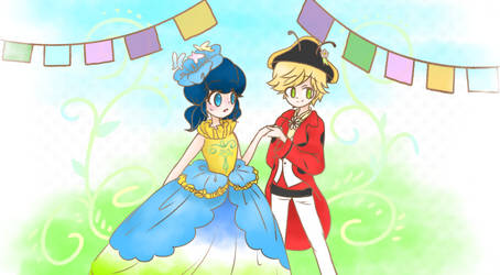 Miraculous Ladybug x Easter parade of TDL by Gohan-twins