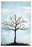 Tree and cloud by Alena-48
