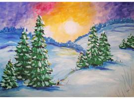 Landscape winter by Alena-48