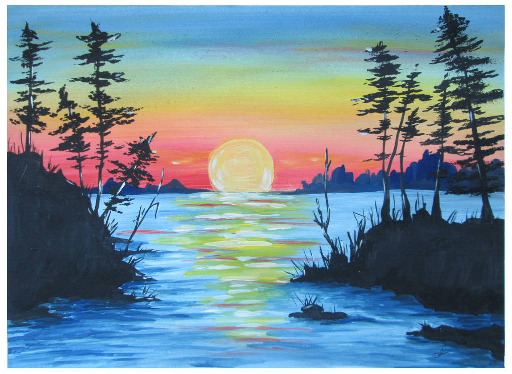 Landscape sunset by Alena-48