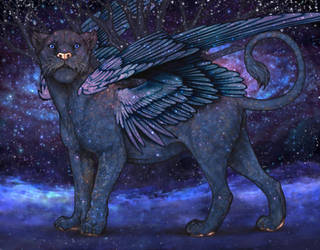 Interstellar winged lioness by UnicornLover2500
