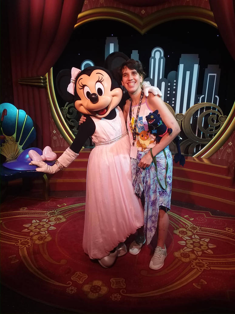 me and Minnie Mouse  by UnicornLover2500