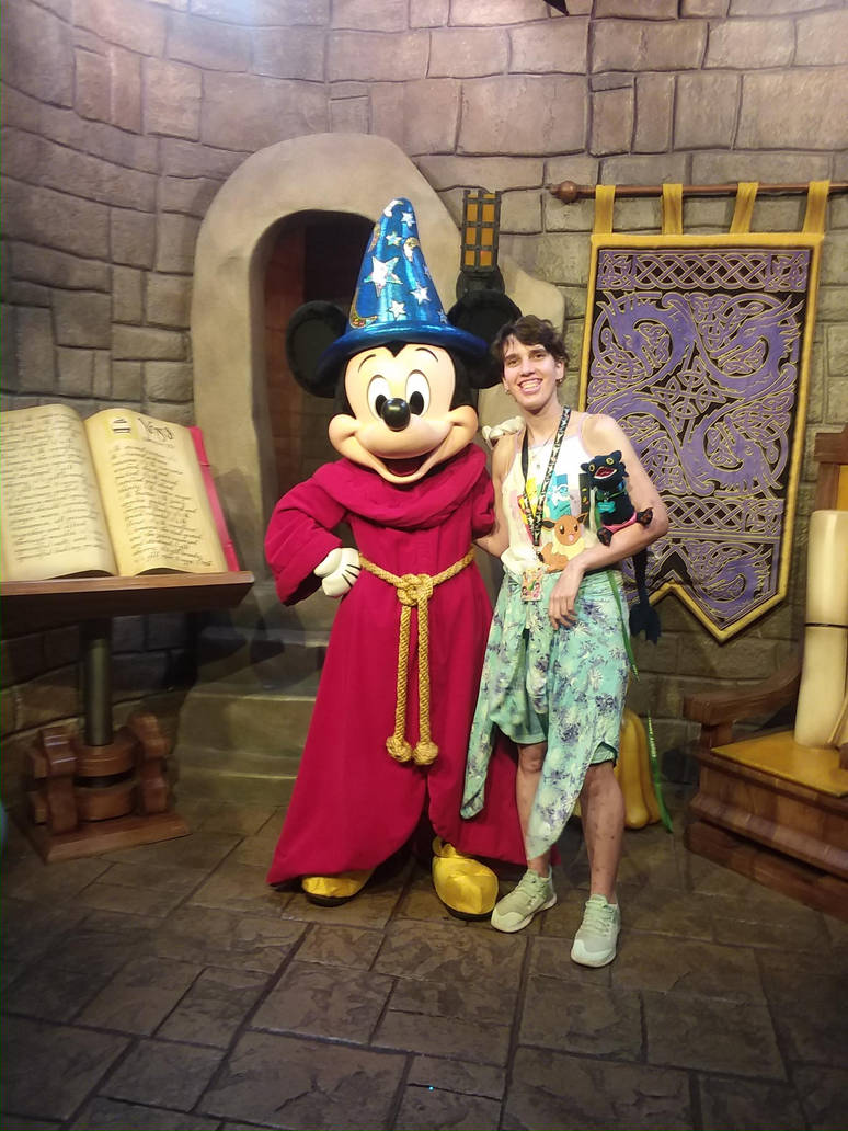 me and Mickey Mouse  by UnicornLover2500