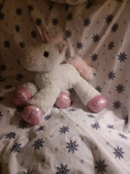 My Sparkly Pink Unicorn Plush  by UnicornLover2500