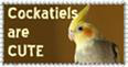 Cockatiel Stamp by O-d-a-s