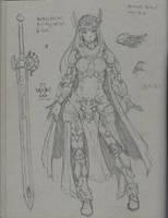 Valkyrie Theavencian Armor. (Concept armor) by Periphone