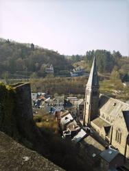 La Roche Church from Ruin by CyranoInk