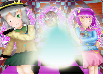 Koishi + Master Spark + Satori by ZowyZoe
