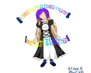 Hijiri Byakuren doodle :P by ZowyZoe
