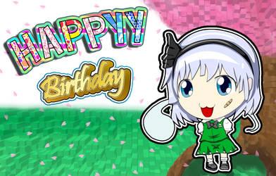 Youmu Konpalu Happy Birthday by ZowyZoe
