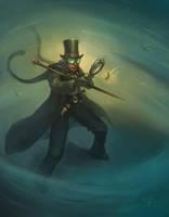 steampunk private investigator by DevBurmak