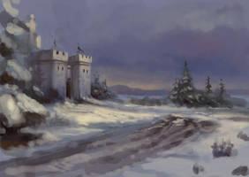 Speed - winter castle by DevBurmak