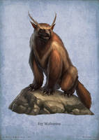 Paizo monster - Fey Wolverine by DevBurmak