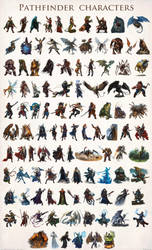 Paizo Pathfinder characters 001-105 by DevBurmak