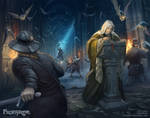 Frostgrave: Fight in the library by DevBurmak