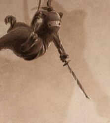 Ninja ferret by wulfnstein