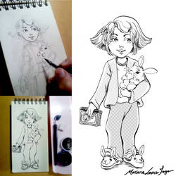 Kid - Inktober by Marimari13