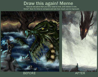 MEME: Draw This Again (Jormungandr) by cubehero