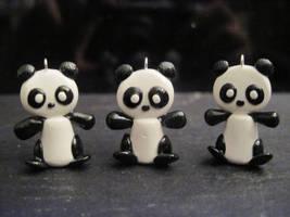 Cutie Panda Charms by Blazesnbreezes