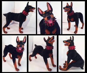 Hanne Doberman Poseable Art Doll by Blazesnbreezes