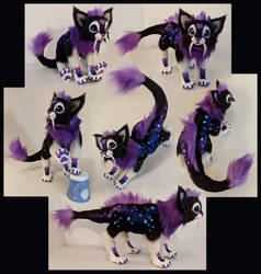 Galaxy Dragon Kitten Poseable Doll by Blazesnbreezes
