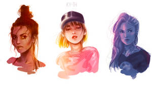 portraits by Ky-th