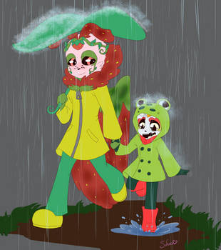 :AT: Playing in the rain by Sofua