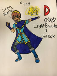 Inktober Day 30 Joltik and Light Brawler by DesuMoeLee