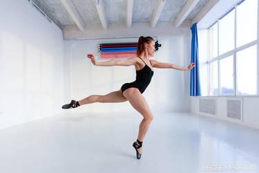 LegsEmporium Anya Ballerina in Black by LegsEmporium
